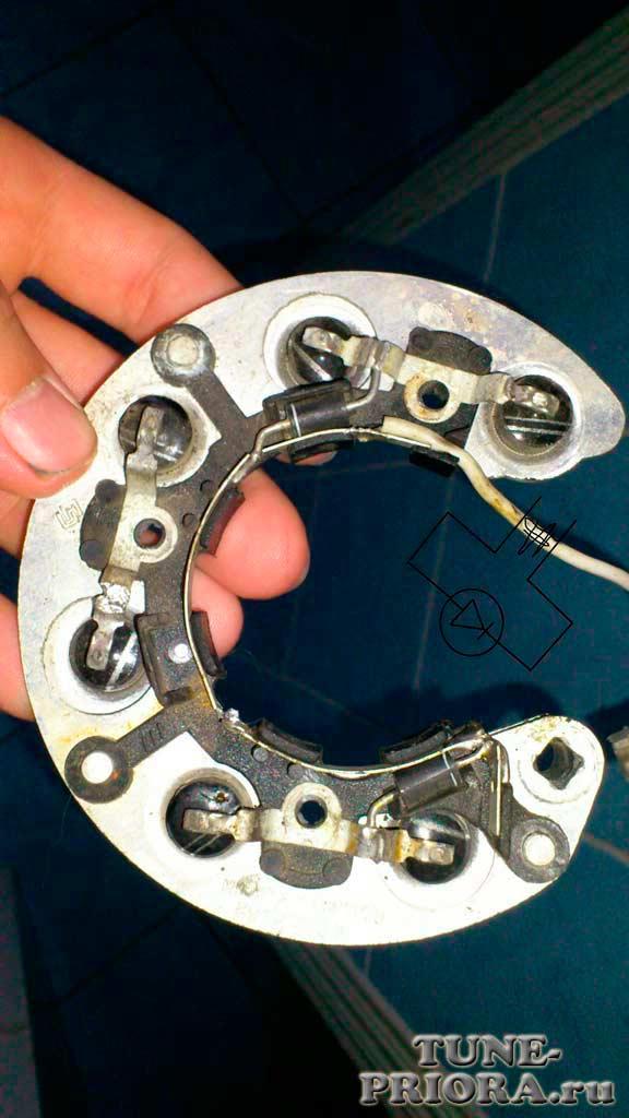 img 568 - Увеличить напряжение на генераторе диодом