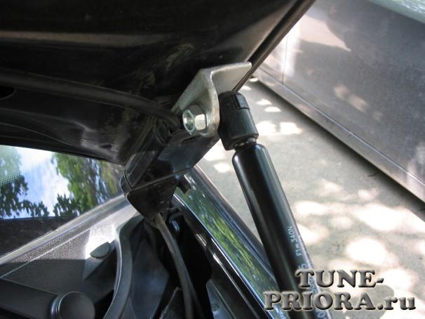 Газовый упор багажника на гранту своими руками