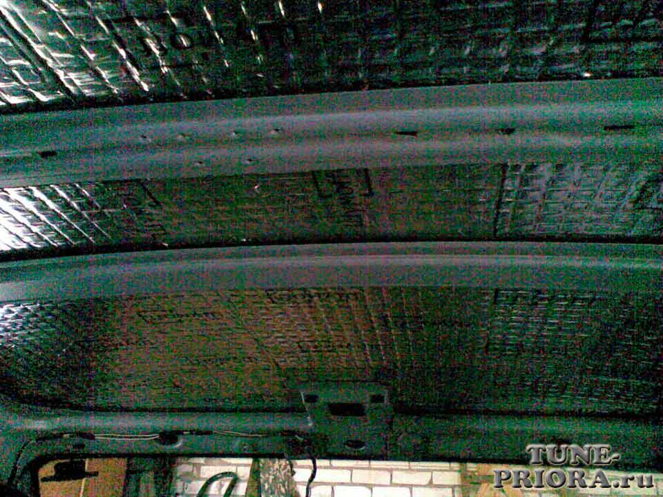 Шумоизоляция крыши приора хэтчбек